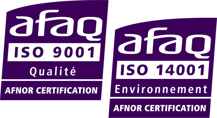 Certification ISO 9001 ISO 14001